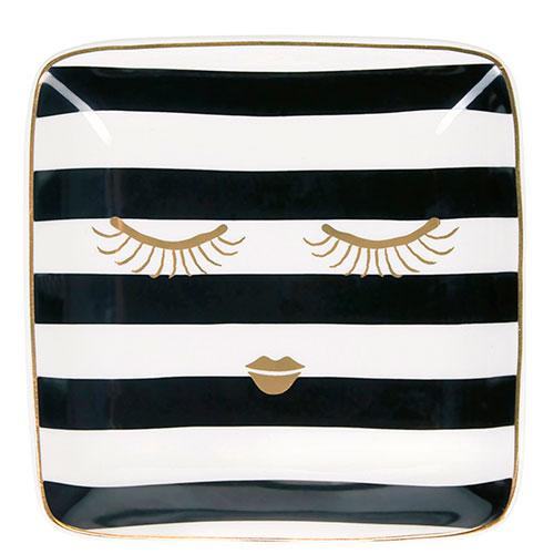 Квадратная тарелка Miss Etoile с золотистыми глазами, фото