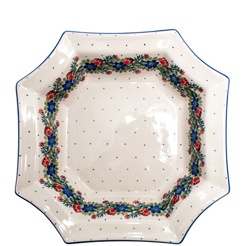 Салатник Ceramika Artystyczna Лесной веночек 8-угольный, фото