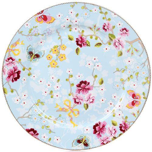 Блюдо Pip Studio Floral диаметром 32 см с цветочным принтом, фото