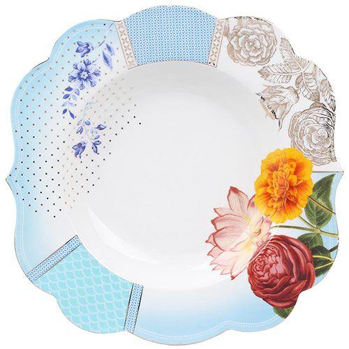 Большая тарелка Pip Studio Royal диаметром 28 см голубая, фото