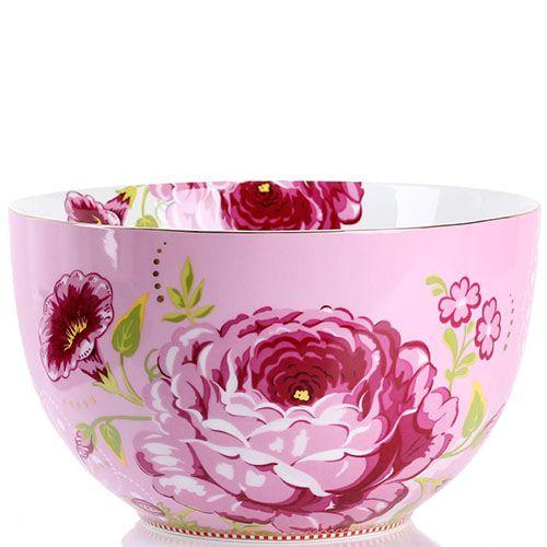 Большая пиала Pip Studio Floral розовая, фото