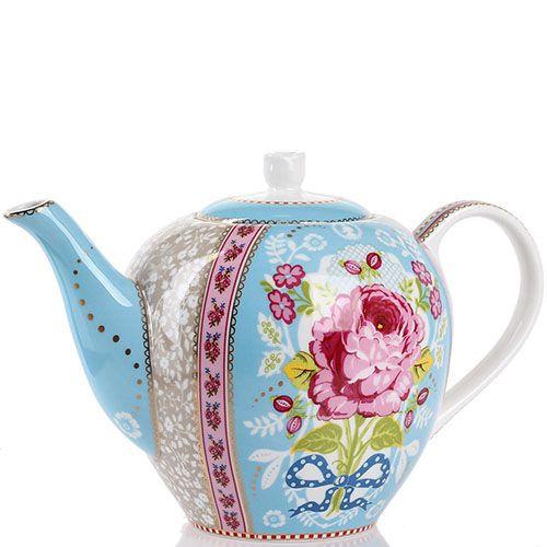 Чайник Pip Studio Floral голубой 1.6 л, фото