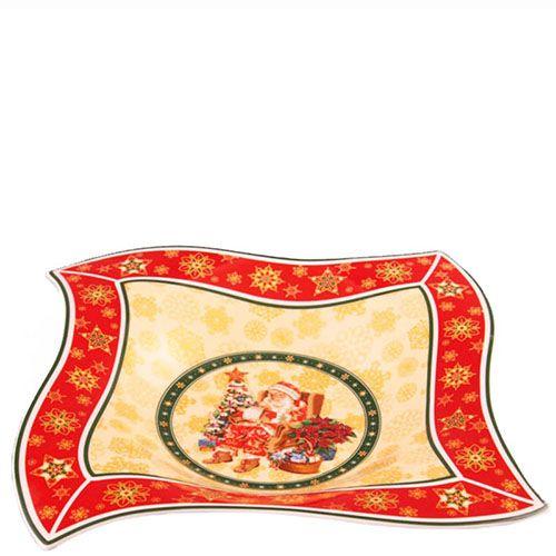 Блюдо фигурное из фарфора Новогодняя коллекция, фото