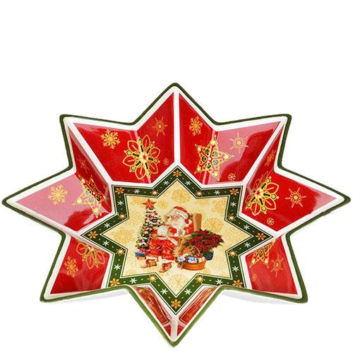 Фигурное блюдо из фарфора Новогодняя коллекция, фото