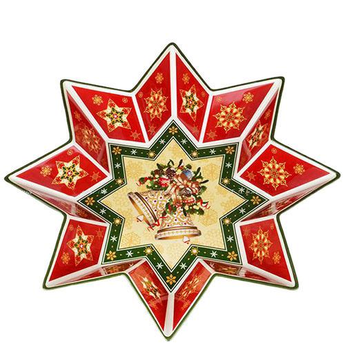 Фарфоровое фигурное блюдо Новогодняя коллекция, фото