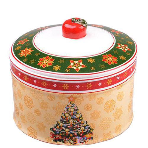 Емкость для сыпучих продуктов Новогодняя коллекция из фарфора, фото
