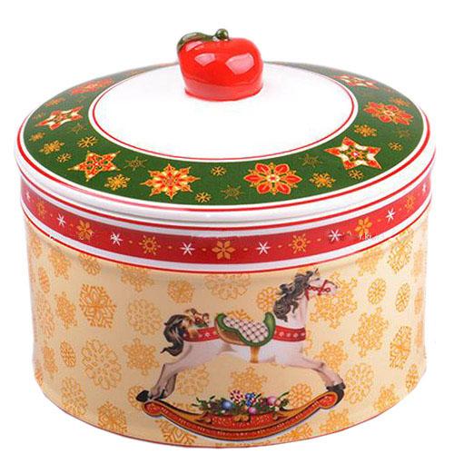 Фарфоровая банка для сыпучих продуктов Новогодняя коллекция, фото
