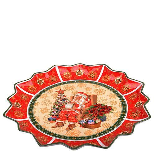 Блюдо круглое из фарфора Новогодняя коллекция, фото