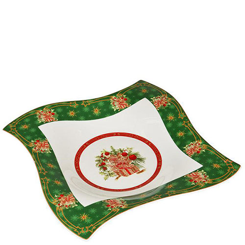 Блюдо Christmas collection из фарфора, фото