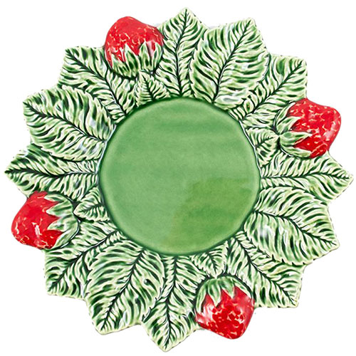 Тарелка обеденная Bordallo Pinheiro Клубника 26см, фото