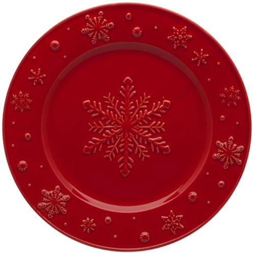 Десертная тарелка Bordallo Pinheiro Снежинки, фото