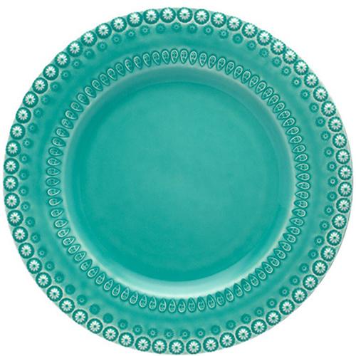 Тарелка Bordallo Pinheiro Фантазия цвета морской волны, фото