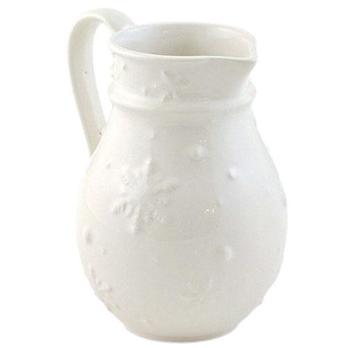 Кувшин белого цвета Bordallo Pinheiro Снежинки, фото