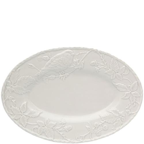 Блюдо Bordallo Pinheiro Артишок и птица белого цвета, фото