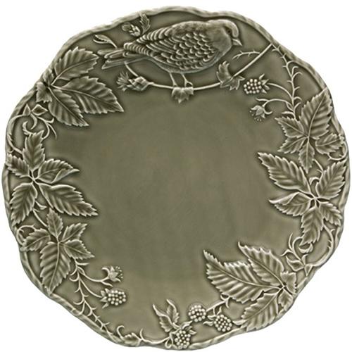 Зеленая подставная тарелка Bordallo Pinheiro Артишок и птица, фото