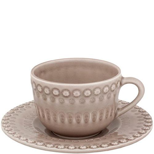 Набор из 6 чайных чашек с блюдцами Bordallo Pinheiro Фантазия коричневого цвета, фото