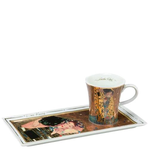 Фарфоровые чашка с блюдцем Goebel Поцелуй, фото