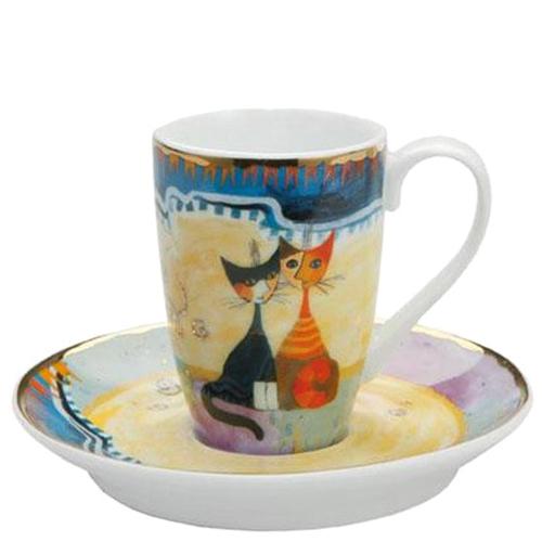 Фарфоровые чашка с блюдцем Goebel Коты, фото