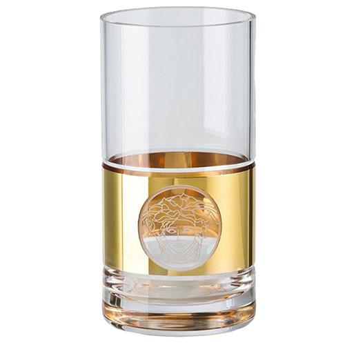Позолоченный стакан Rosenthal Versace Medusa Madness Oro Long Drink, фото