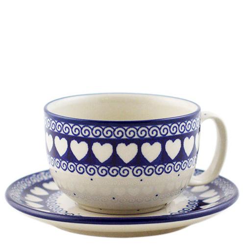Чашка с блюдцем Ceramika Artystyczna Валентинки, фото