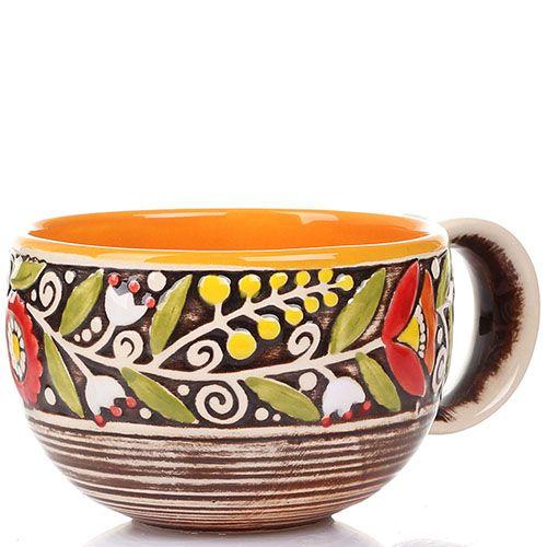 Набор из 2 чашек Manna Ceramics ручной работы в коричневых тонах 300 мл, фото
