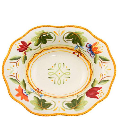 Керамическое блюдо Fitz and Floyd Тюльпаны с флористической росписью 32,5x26,5см, фото