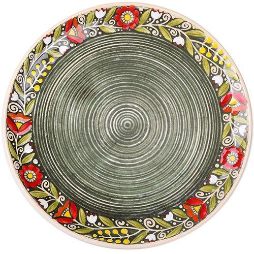 Набор из двух тарелок Manna Ceramics из керамики зеленого цвета 27 см, фото