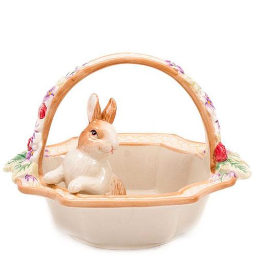 Фруктовница Fitz and Floyd Корзинка с кроликом, фото