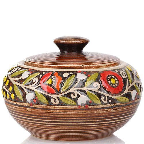Сахарница Manna Ceramics коричневого цвета ручной работы, фото