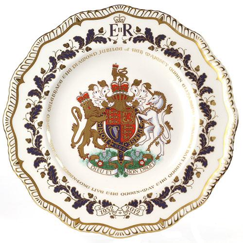 Фарфоровое блюдо Royal Crown Derby Diamond Jubilee, фото