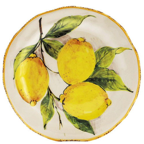 Набор десертных тарелок Bizzirri Лимоны, фото