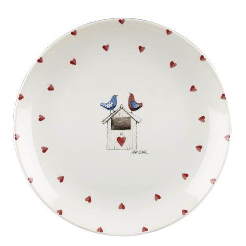 Тарелка Churchill Alex Clark  диаметром 26 см с сердечками и двумя птичками, фото