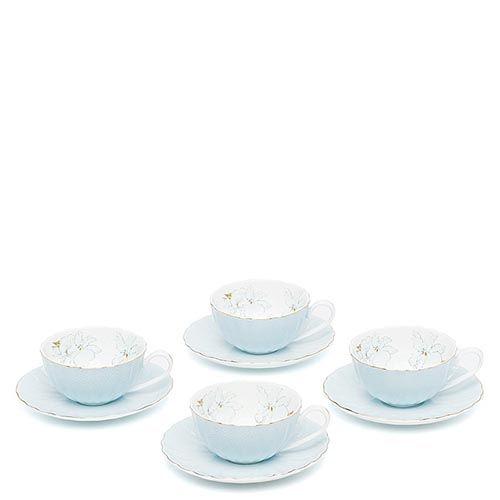 Чайный набор Pavone на четыре персоны София Блю голубой, фото