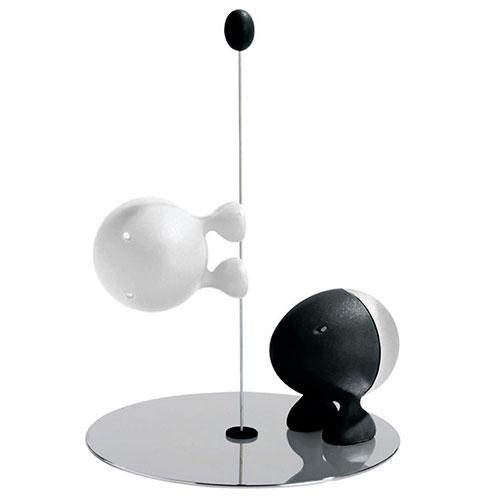 Набор для специй Alessi Lilliput черный с белым, фото