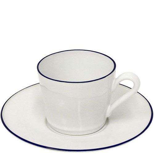 Набор из 6 чайных чашек с блюдцами Costa Nova Beja белого цвета, фото