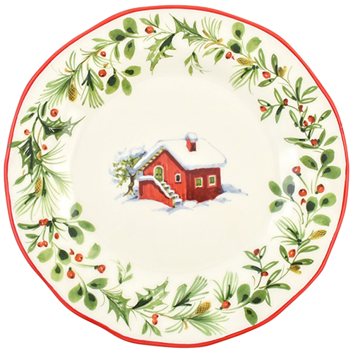 Набор обеденных тарелок Villa Grazia Лесная сказка на 6 персон, фото