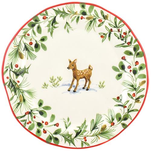 Тарелка для салата Villa Grazia Лесная сказка 21см, фото