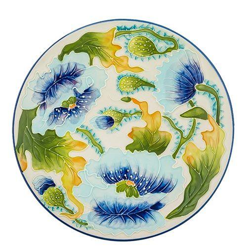 Блюдо Pavone Голубые маки, фото
