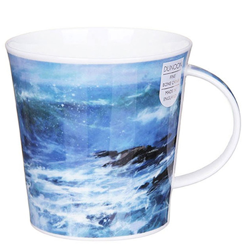 Чашка Dunoon Cairngorm Breaking Waves Blue 0,48 л, фото