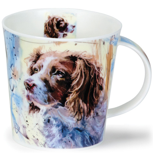 Чашка Dunoon Cairngorm Dogs on Canvas Springer 0,48 л, фото