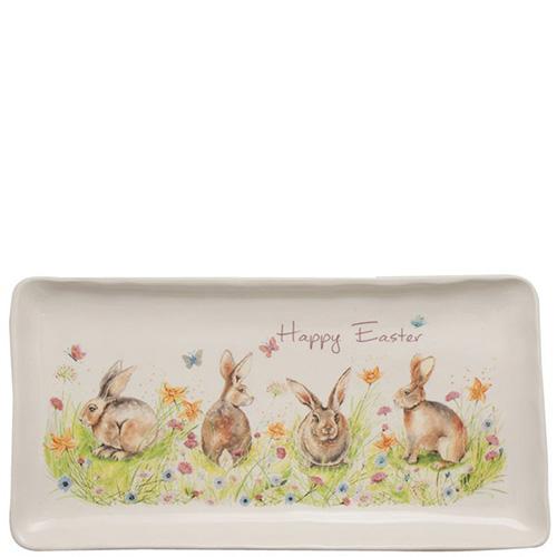 Блюдо пасхальное Ceramica Cuore Кроличья семейка, фото