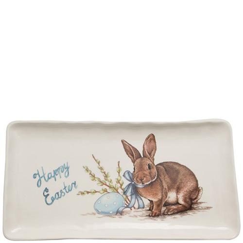 Блюдо Ceramica Cuore Пасхальный кролик для праздничной сервировки , фото