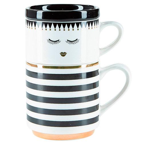 Набор из двух чашек Miss Etoile Closed eyes, фото