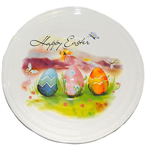 Блюдо пасхальное Ceramica Cuore Счастливой Пасхи, фото