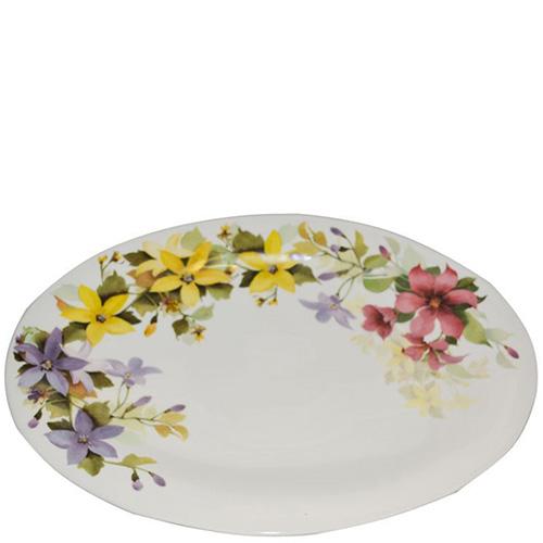 Блюдо овальное Ceramica Cuore Цветочное настроение, фото