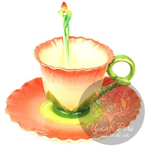 Набор Торения: чашка блюдце ложечка Pavone, фото