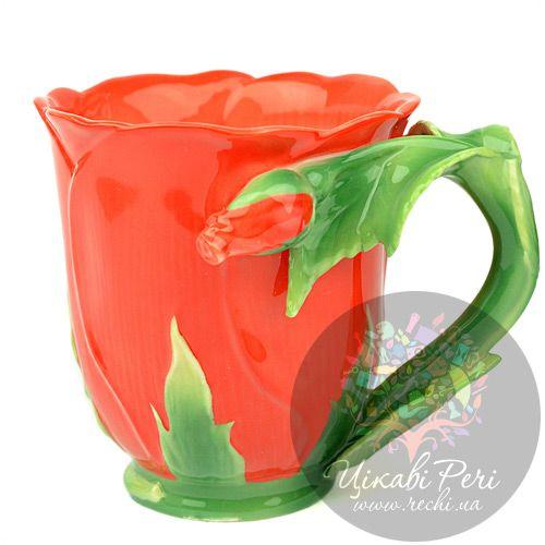 Кружка Красная роза Pavone, фото