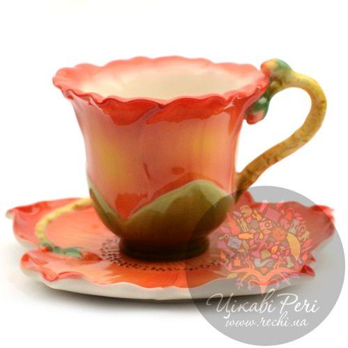 Чашка с блюдцем «Капок», фото