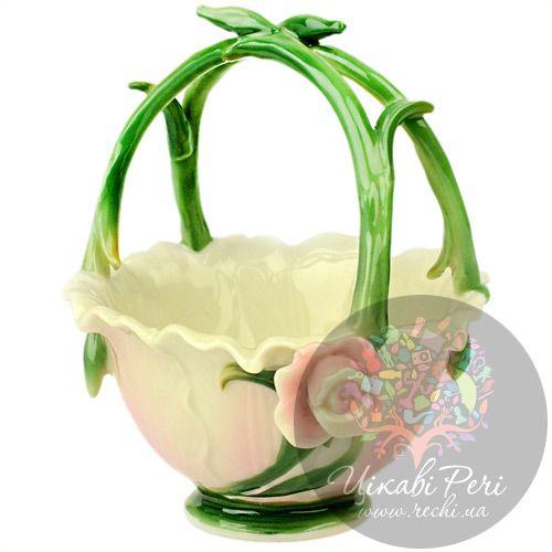 Корзинка маленькая для конфет и фруктов Роза Pavone, фото