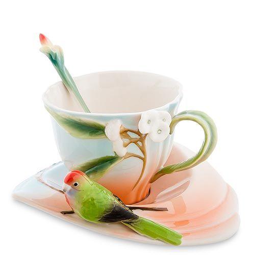 Чайная пара Pavone Попугай Розелла, фото